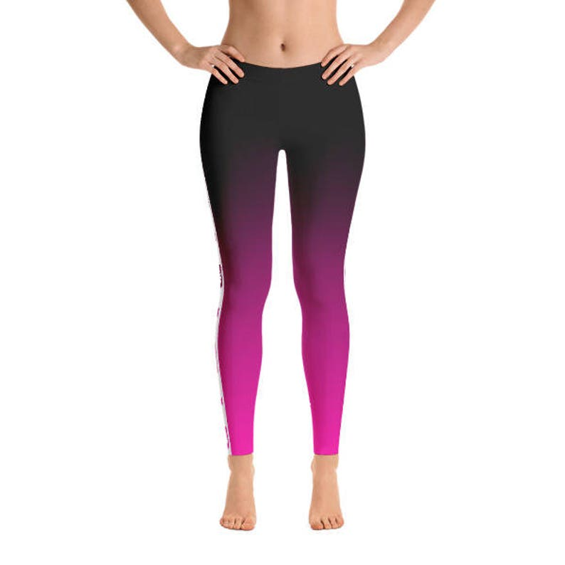 Fade to Pink Figure Skater Leggings Slimming Design Durable image 0