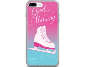 Figure Skater iPhone 7/7 Plus Case in Pink, Scratch-Resistant Solid Sleek and Easy to Take On and Off, iPhone Case for Figure Skaters