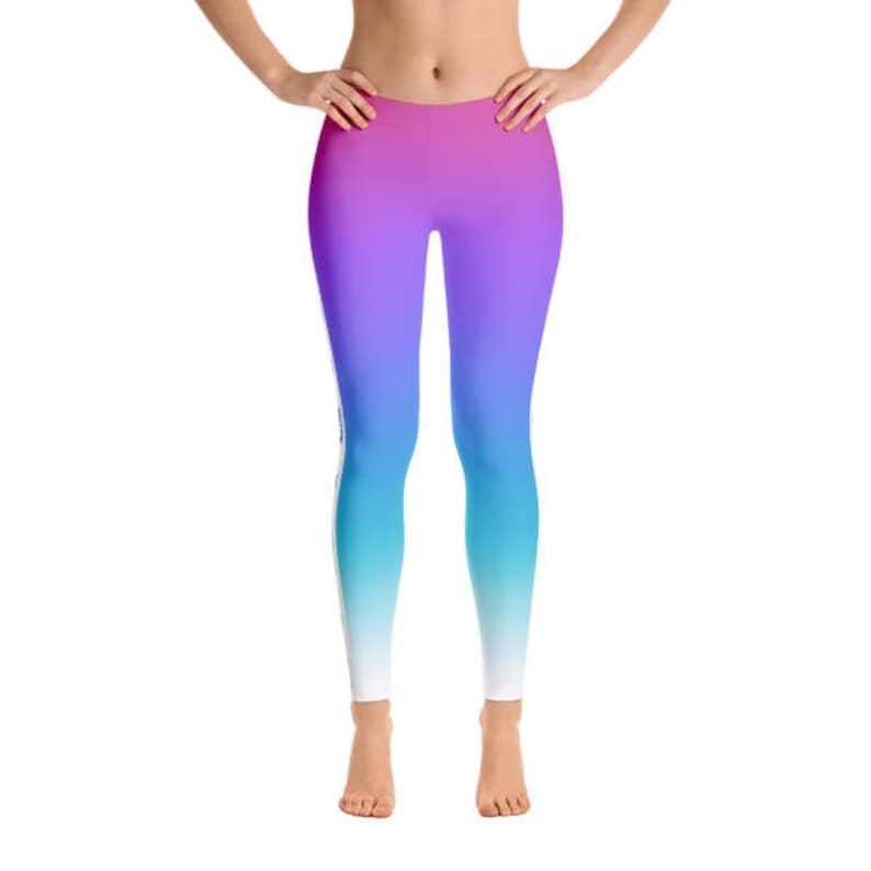 Ombre Figure Skater Leggings With Blades Durable Figure image 0