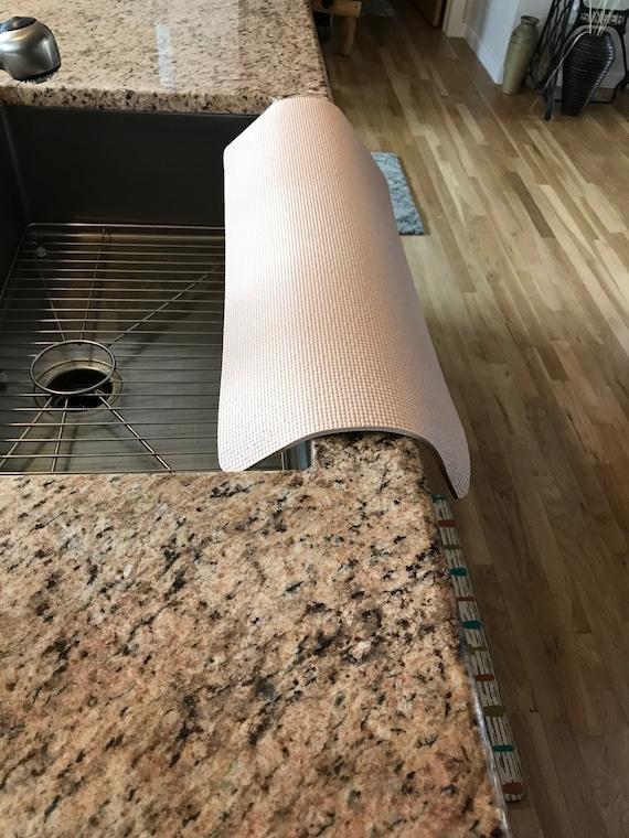 Granit beige cuisine évier garde bord, gardien de granit, 12 de large x 27  de longueur, 1/4 de ht, TM(4), Copyright 2017