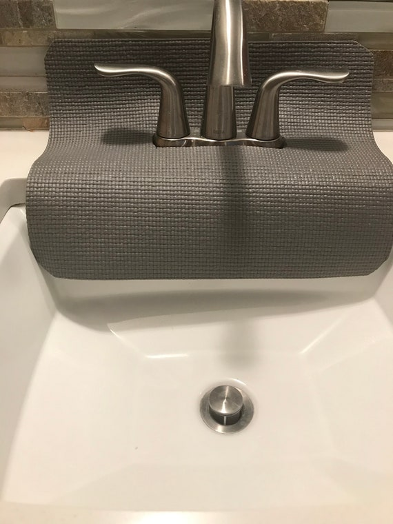 Gray Bathroom Faucet Splash Guard Guards From Water Etsy