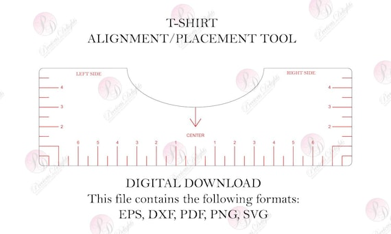 Tshirt Ruler Svg Png T Shirt Alignment Tool Dxf Shirt Etsy