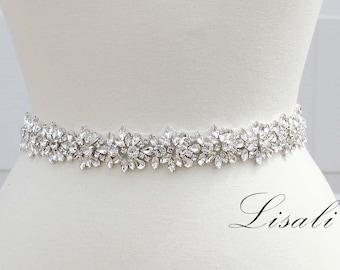 Beautiful Rhinestone bridal beltsash
