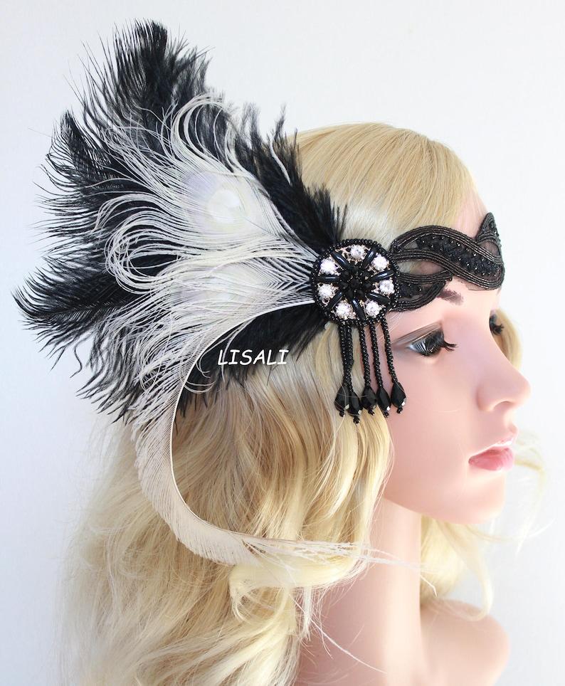 LISALI 1920s Headpiece Flapper Headbands Great Gatsby  85b1453efc5