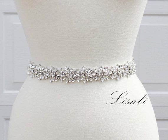 Women's Crystal Sparkly Sash Belt Bride Wedding Belt Bridesmaid Belts For Dresse