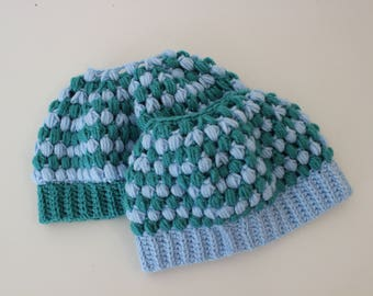 f6b0cc542a9 Mommy and Me Bun Hats