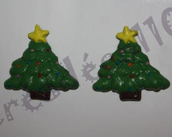 2 magnets salt dough Christmas tree