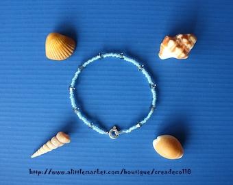 Bracelet lagoon blue Swarovski L 17/18 cm