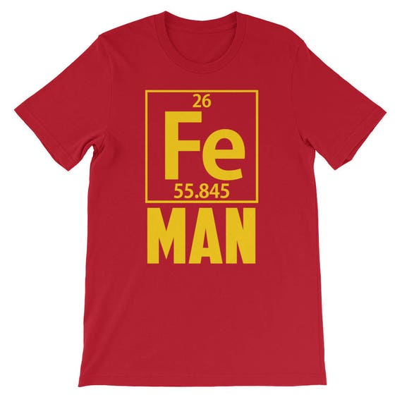 Fe Man Science Periodic Table Iron Element Halloween Costume Etsy