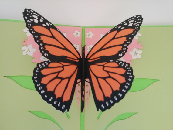 Vivid Butterfly Pop Up Greeting Card - Friendship, Thinking of You,  Birthday, Mother's Day, New House, Love, Just Because