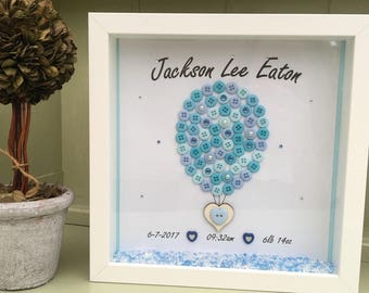 NEW BABY GIFT. Nursery, childs room personalised gift