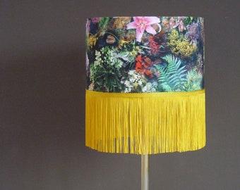 30 cm printed fabric lampshade
