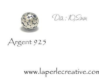 Pearl Silver 925 10mm dots
