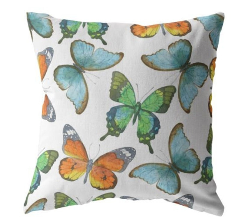 Butterfly Throw Pillow Home Decor Decorative Pillow Throw Etsy