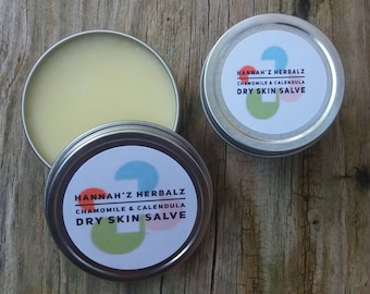 Chamomile and Calendula Dry Skin Salve...Soothing & healing...MOTHERS DAY GIFT