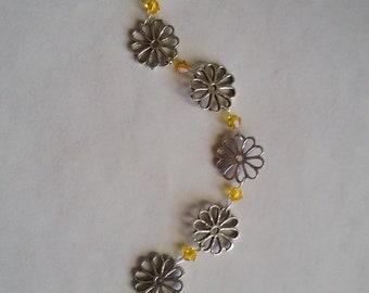 Flower Bracelet, Swarovski, Sunflower, Under 25.00