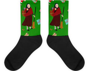 Christmas Witch Befana Socks
