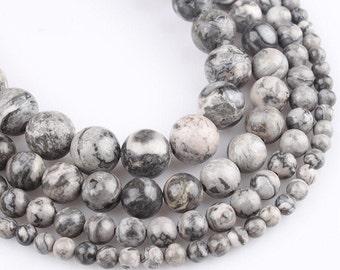 Picasso Jaspis 6mm Perlen Kugeln rund 1 Strang #3