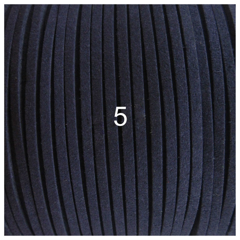 Soft Flat cord 42 colors 3x1.5mm From 3 to 20 meters Mixed Colour Anteline 3x1.5mm 42 Colors Faux Suede Cord