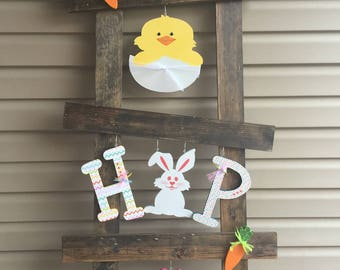 Easter Decorations/Custom/Gift/Easter ladder kit/Ladder kit/interchangeable/holiday decor/bunny/chick/easter basket/april/personalized