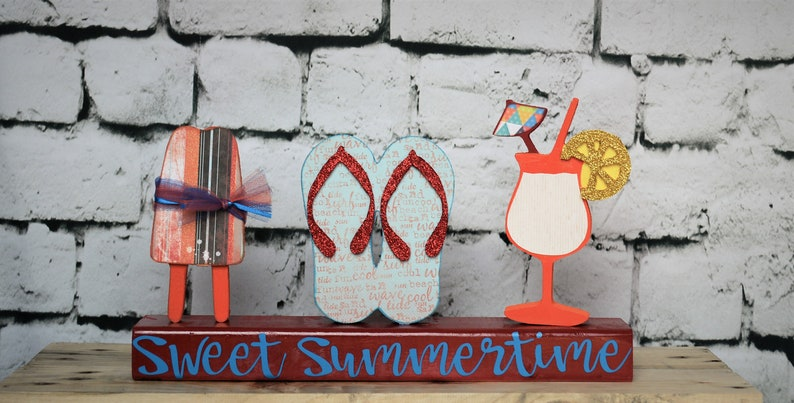 09b00070510006 Summer Decor Spring   Summer Decorations Cutout Signs for
