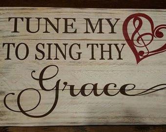 Tune my heart to sing thy grace hymn