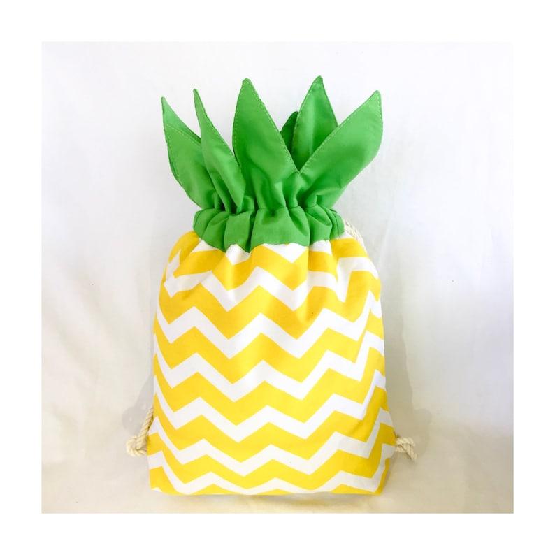 Drawstring Pineapple Shaped Backpack