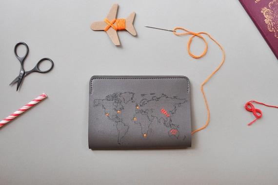 Nähen Sie wo Sie gewesen sind Reisen Sie Reisepass-Cover