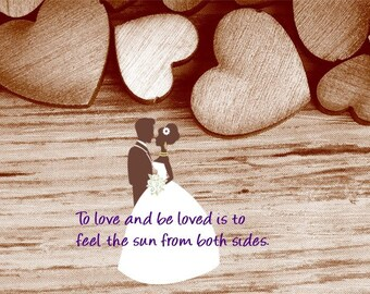 To love and be loved Wedding gift