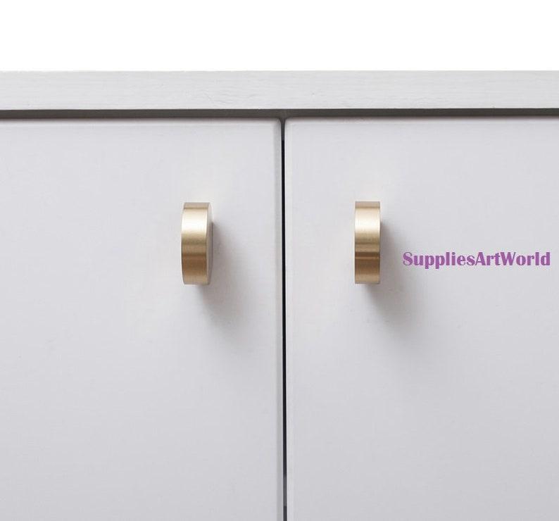 Brass Gold Knobs Handles Round Drawer Pulls Handles Pure Copper Cabinet Knobs Handles Dresser Knobs Pulls Furniture Hardware Knobs Pulls