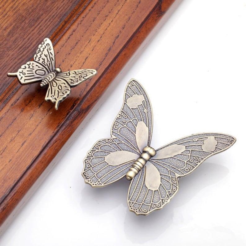 Butterfly Knobs Unique Drawer Knobs Handles Dresser Knobs Pulls Kitchen Cabinet Knobs Pulls Handles Antique Bronze Decorative Furniture Knob