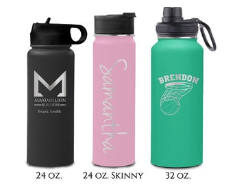 24 32 ounce Double Walled Stainless Insulated Steel Sport Bottle - Custom Business Corporate Logo