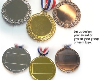 Award Medals Custom Personalized - Etched Design for Tournaments and Competition