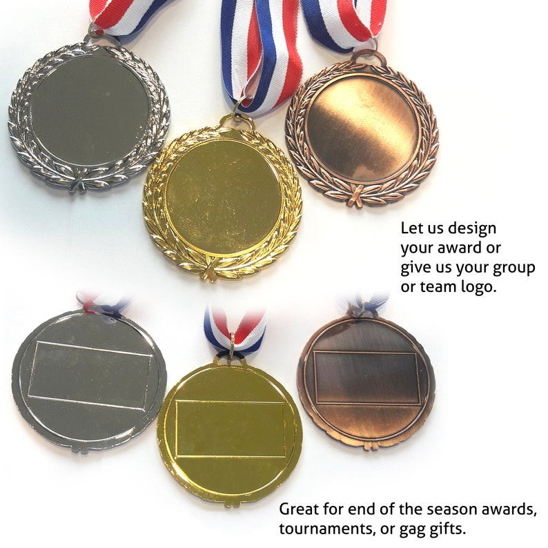 Ships 6/29Award Medals Custom Personalized  Etched Design for image 0