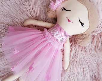 Handmade Personalized Rag Doll, Cloth Doll, Personalized Gift