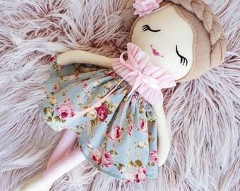 Handmade Rag Doll, Cloth Doll,  Dolls and Daydreams