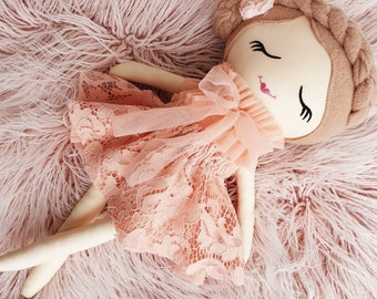Blush Pink Lace Doll