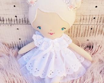 White Ruffle Lace Doll