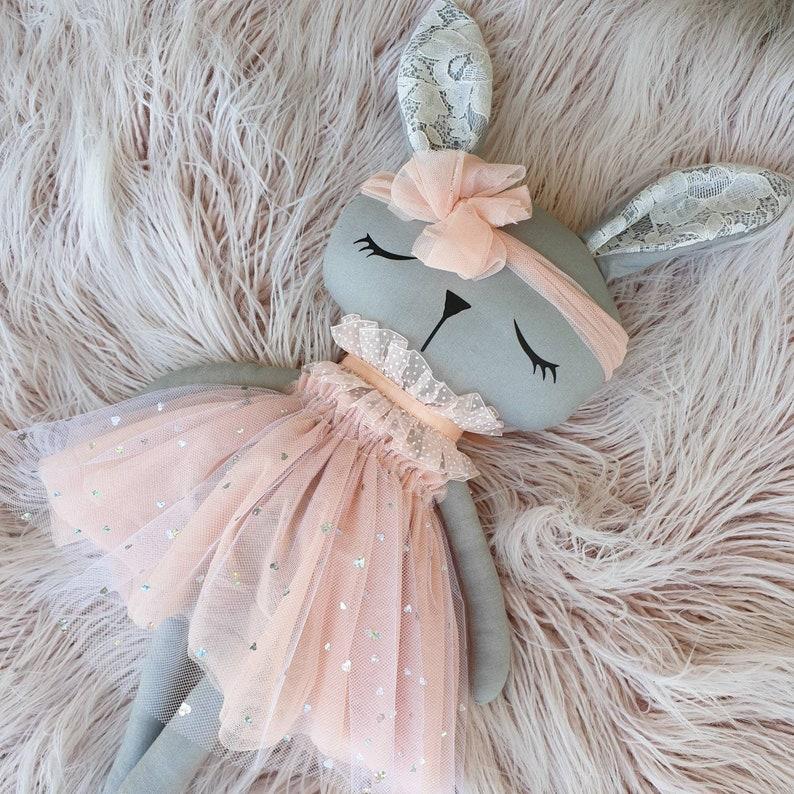 Handmade Bunny Rag Doll  Penelope image 0