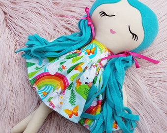Handmade Cloth Doll, Rag Doll, Keepsake Doll, Heirloom Doll, First Birthday Gift, Baby Shower, 45cm, 18 in, Dolls and Daydreams, Fabric Doll