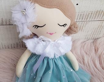 Handmade Cloth Doll, Fabric Doll, Rag Doll, Keepsake Doll, Heirloom Doll, 45cm, 18 inches, OOAK