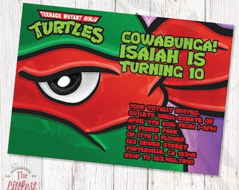Ninja Turtles Invitation - Birthday Invite  - DIGITAL FILE