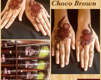 f64e31941679f Instant Choco Brown Henna Mehandi Cone from Vimal Golecha Sehnaaz India