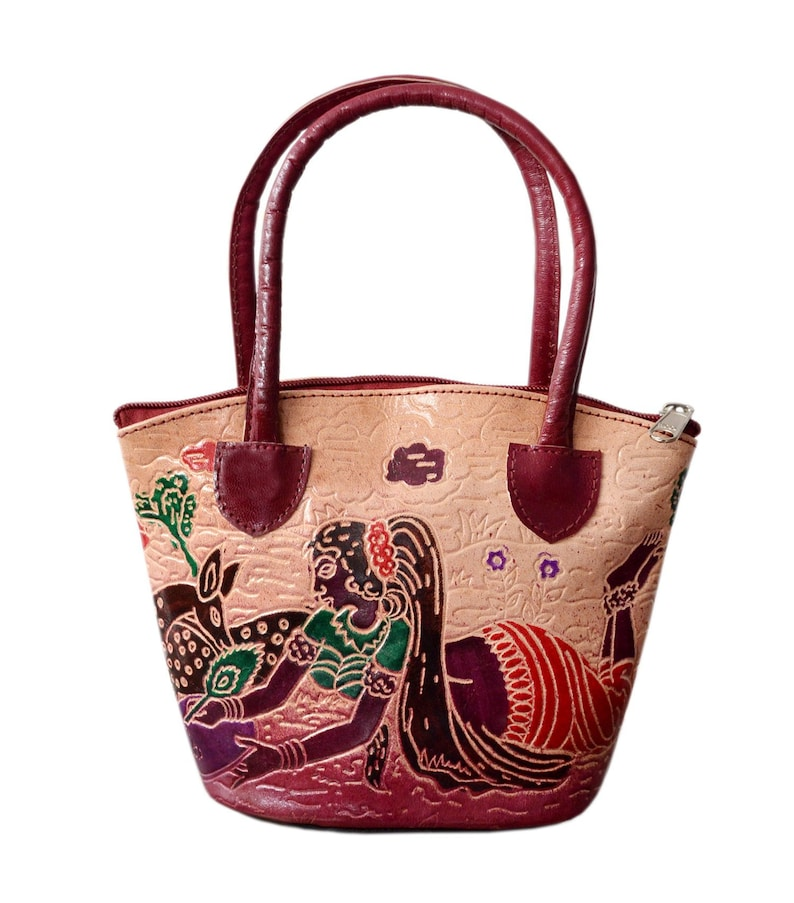 ac2c1f183c Hand Crafted Vegetable Tanned Mini Leather Hand Bucket Bag