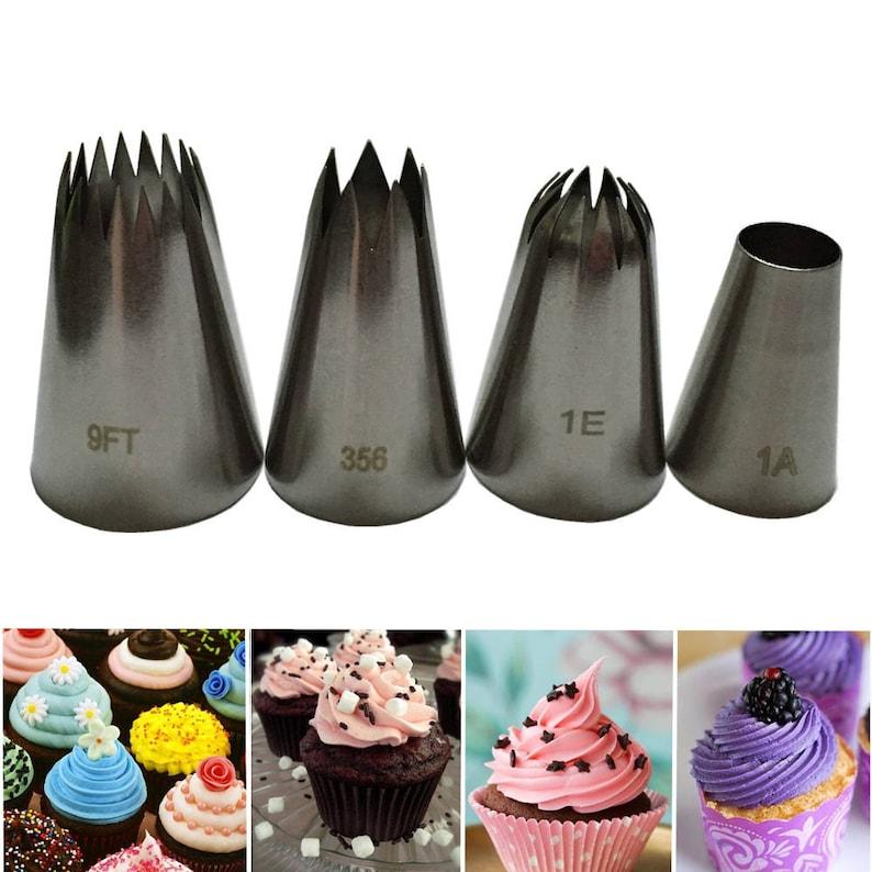 16pcs Cake Baking Icing Piping Nozzles Pastry Tips Sugarcraft Decorating Tools