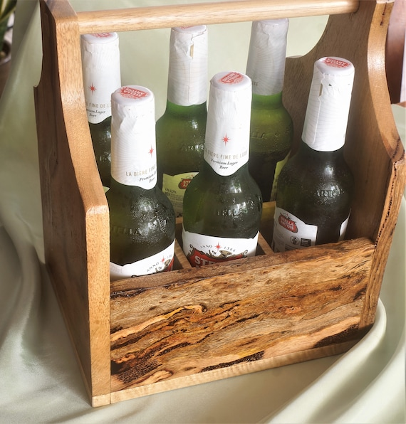 Bottle Carrier 6 pack in Marri with bottle opener.
