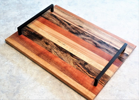 Mixed Timbers Serving Tray  (38) Solid timber.