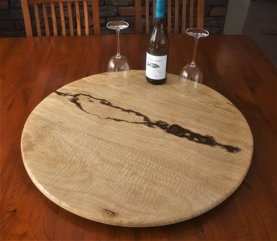 Lazy Susan in  Curly Marri Timber. 695mm Diameter.