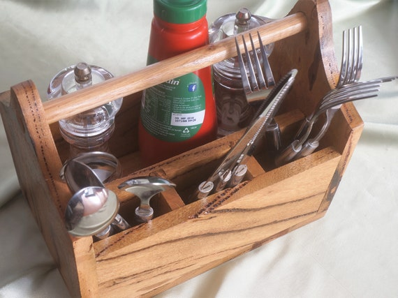 Cutlery Caddy Marri Timber (2)