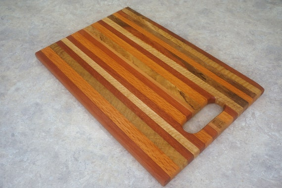 Mixed Timbers Serving Tray  (35) Solid timber.